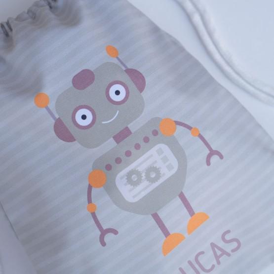 mochila saco personalizada robot