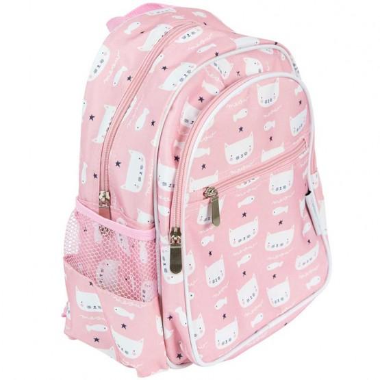 mochila rosa guardería
