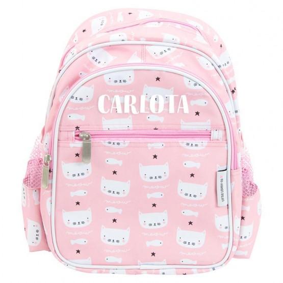 mochila rosa infantil