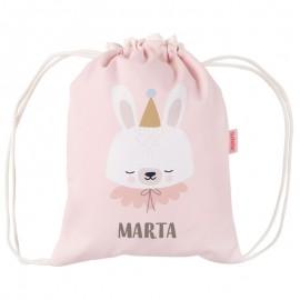 mochila saco bebe rosa