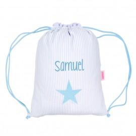 Mochila saco estrella azul