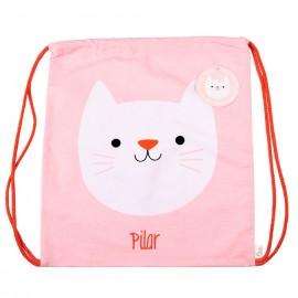 Mochila saco personalizada gatito
