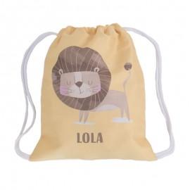 Mochila saco personalizada león