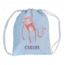 Mochila saco personalizada mono
