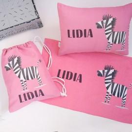 Mochila saco infantil rosa