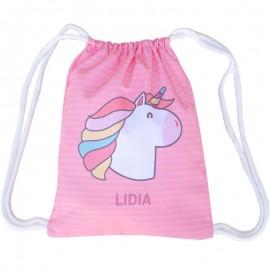 Mochila saco unicornio