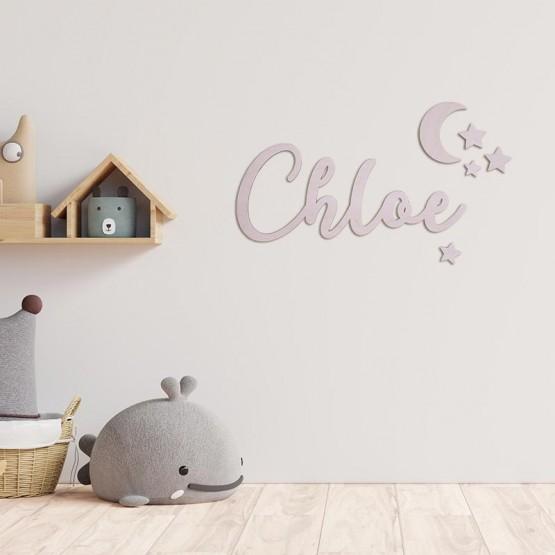 nombre madera habitación bebé