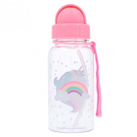 botella agua unicornios y arcoiris