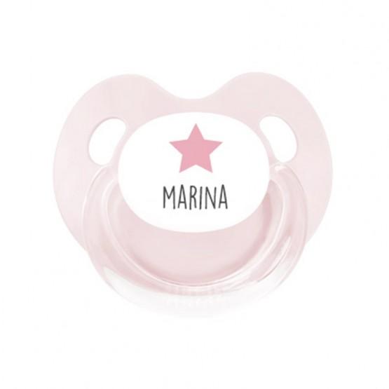 chupete rosa personalizado
