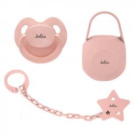 Pack regalo bebé rosa palo