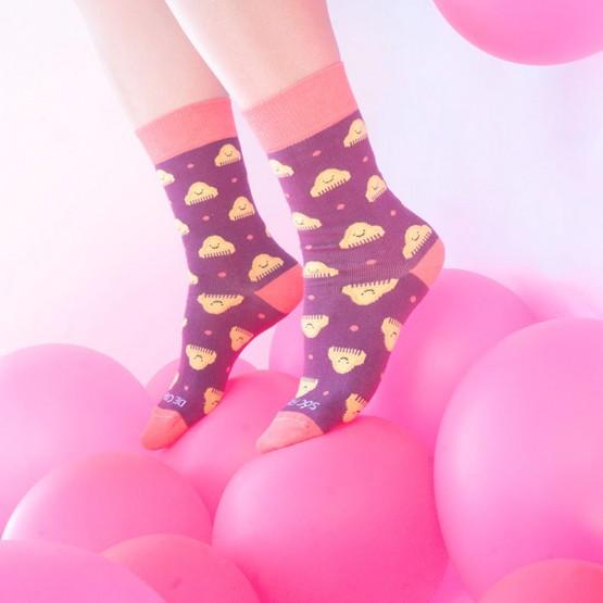 calcetines peineta morados