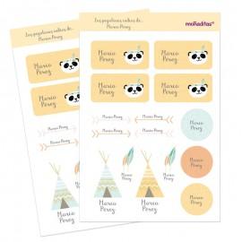 Pegatinas personalizadas panda