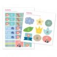 pegatinas personalizadas material escolar