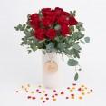 ramo docena rosas rojas