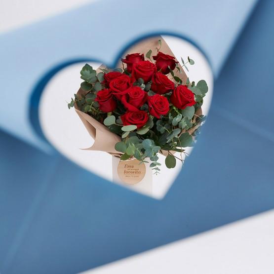 flores con mensaje san valentín