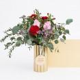 Ramo Julietta (rosas rojas y rosas)