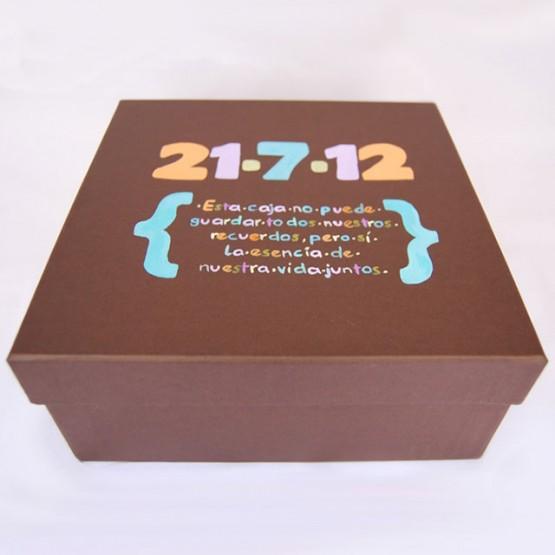 caja original para aniversarios