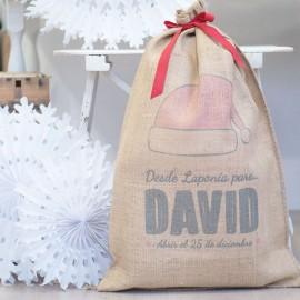Saco regalo personalizado Papá Noel