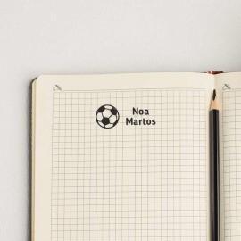sello marcar ropa fútbol