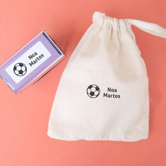 sello textil futbol