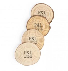 Set Posavasos de madera