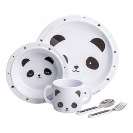 Set vajilla infantil oso panda