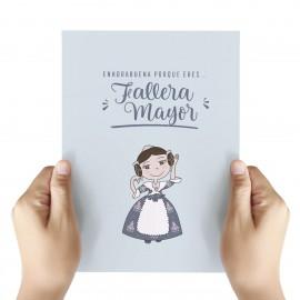 tarjeta felicitación Fallera Mayor