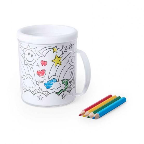 taza colorear