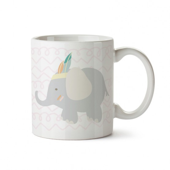 taza infantil dibujo animal