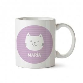taza plastico gatito personalizada