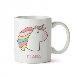 taza de plastico con unicornio para niños