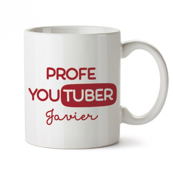 taza para profes youtuber