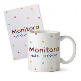 Taza+tarjeta regalo monitor