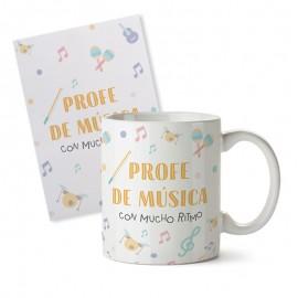 Taza+tarjeta profe música