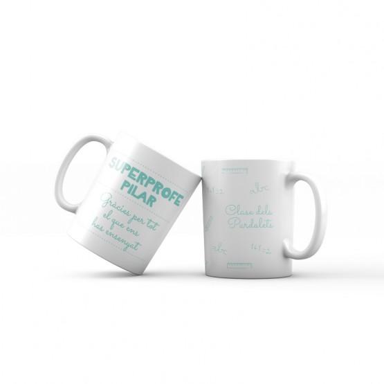 taza para profes personalizada