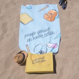 Toalla y bolso playa profesor