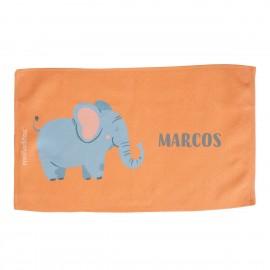 toalla guardería personalizada elefante