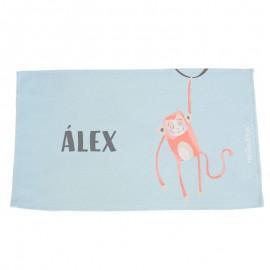 Toalla guardería personalizada mono