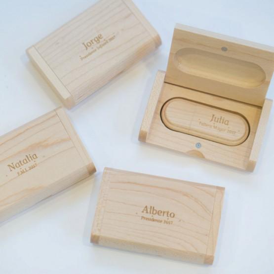 Usb madera personalizado