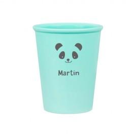 Vaso verde panda personalizado
