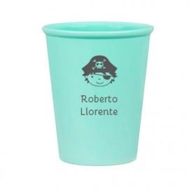 Vaso verde pirata personalizado